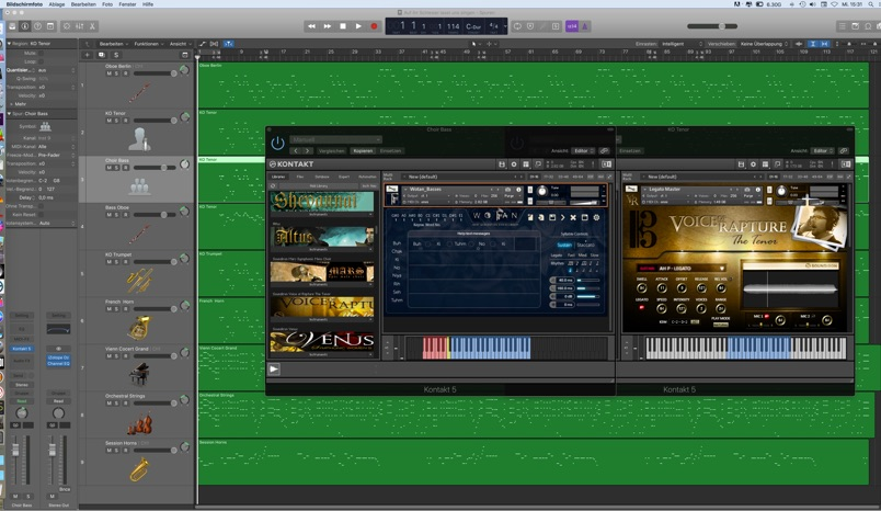 Arrangierfenster Logic Pro