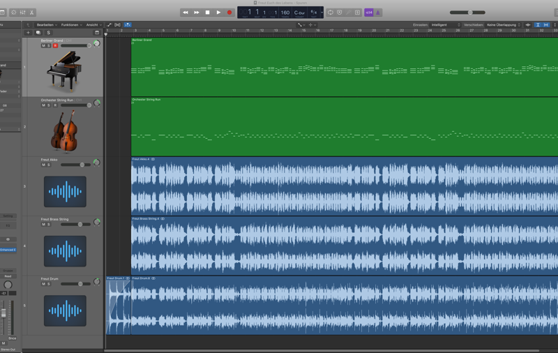 Logic Pro X Arrangierfenster Doppel-Adler