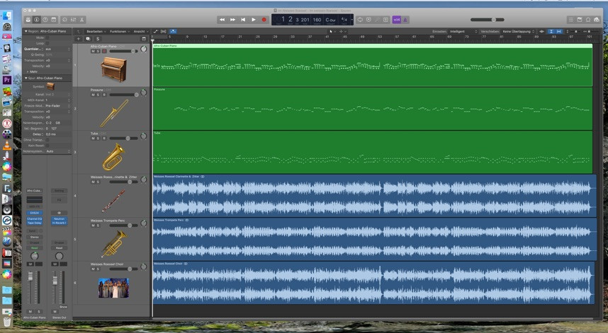 Arrangierfenster Logic Pro X
