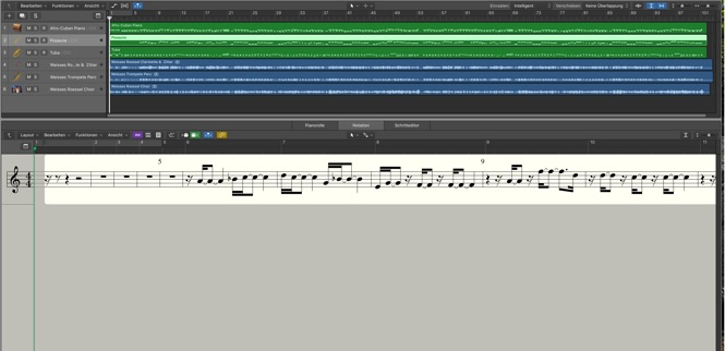 Logic Pro Notations Fenster