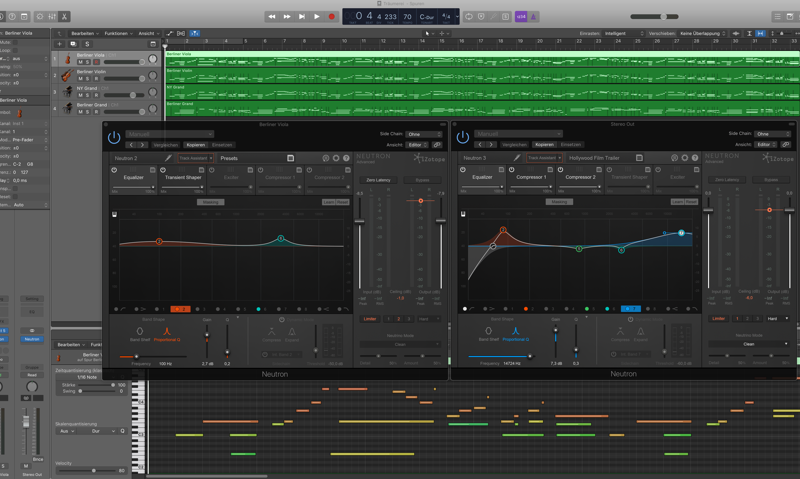 Logic Pro X Arrangierfenster