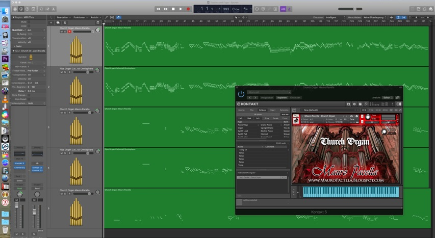logic pro arrangierfenster